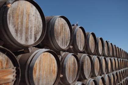 Parkett aus alten Weinfässern